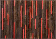 Alfombra de Cuero Premium Argentino - Modelo ILIANA RED -::: Design Carpets Alfombras :::