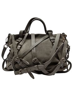 I'm mad for anything grey, me. A bag which will take as long to get into as it takes to find what you're looking for. Love it.