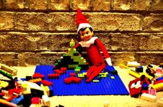 Elf on the Shelf idea - building Lego's