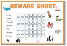 111 best printable reward charts template images on pinterest
