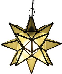 These handmade hanging tin and glass stars from Mexico are the ultimate accent to your rustic or southwestern decor!  The various glass plate finishes are absolutely stunning when illuminated and glow from every angle.  Hang one in any room of your home for unique decorative lighting.  Available in small (14x14=$119)and large sizes (18x18=$139) lafuente.com