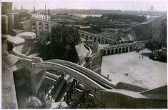 Американские горки в саду Горкома. Ленинград. 1934 год.
