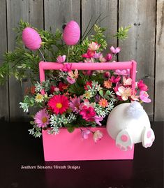 A personal favorite from my Etsy shop https://www.etsy.com/listing/594324751/easter-bunny-centerpiece-floral