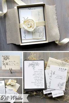 Beacon Lane Wedding Stationery -  All White