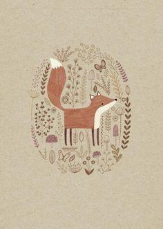James Newman Gray - Line Drawing Fox Art And Illustration, Fuchs Illustration, Illustration Inspiration, Woodland Illustration, Fox Drawing, Scandinavian Folk Art, Fox Art, Woodland Creatures, Cute Art