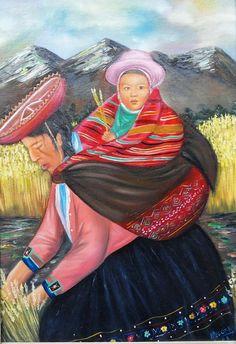 Resultado de imagen para pinturas de mujeres indigenas de sudamerica