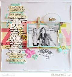 Tips & Tricks with Wilna furstenberg for Studio Calico using March's Neverland Scrapbook kit. Scrapbook Sketches, Scrapbook Page Layouts, Scrapbooking Ideas, Scrapbook Paper Crafts, Scrapbook Cards, Studio Calico, Card Making, Crafty, Creative