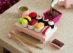 Felt sushi set.