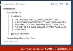 Farm Farm hahahahahahahhahahaha. It's Moon Moon all over again.