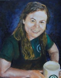 Rae the barista... acrylic