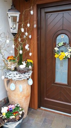 pl – Odkrywaj, kolekcjonuj, kupuj – House Decor Tips Easter Tree, Easter Wreaths, Easter Projects, Easter Crafts, Diy Easter Decorations, Christmas Decorations, Table Decorations, Spring Crafts, Holidays And Events