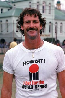 World Series Cricket in the Legendary Australian fast bowler Dennis Lillee History Of Cricket, World Cricket, Cricket Bat, Cricket Sport, Sports Stars, World Series, Childhood Memories, Sweet Memories, World Cup