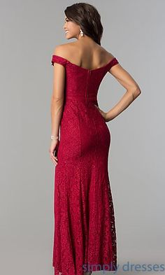 Shop long lace off-the-shoulder prom dresses at Simply Dresses. Cheap formal fb5bf04e3c70