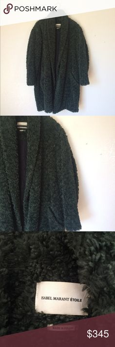 Isabel Marant Etoile Adams Coat (faux fur) Beautiful kelly deep green faux fur coat from Isabel's '16 winter collection. Worn 2-3 times. Amazing condition Isabel Marant Jackets & Coats Trench Coats