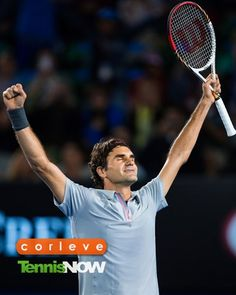 Roger Federer after his win against Tsonga - Australian Open 2013. What a match!