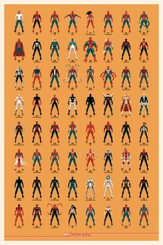 Spider-Verse Timed-Edition Poster by DKNG from Mondo (Onsale Info) Ms Marvel, Marvel Comics, Marvel Art, Marvel Heroes, Marvel Characters, Amazing Spiderman, Comics Spiderman, Comics Universe, Marvel Cinematic Universe