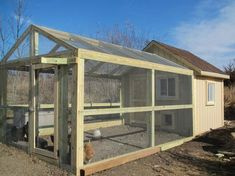 Big chicken coop and run with easy access