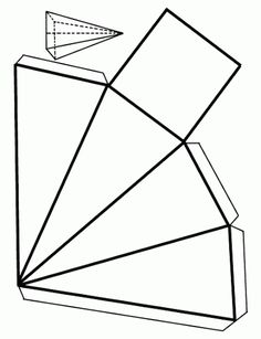 Printable 3D cube template. Color it, cut it out, fold it