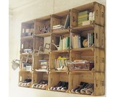 reclaimed wood / wine boxes