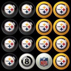 Pittsburgh Steelers Billiard Ball Set