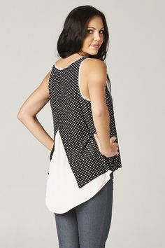 Relaxed Polka Dot Top