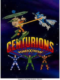 Centurions Power Xtreme Title Cel with Master Painted Background (Ruby-Spears, Comics book legends Jack - Available at Sunday Internet Comics Auction. The Centurions, Paint Background, Old Tv Shows, Me Tv, Teenage Mutant Ninja Turtles, Favorite Tv Shows, Fiction, Animation, Cartoon