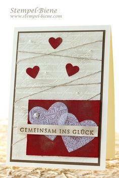 Stampin' Up Hochzeitskarte, Stampin Up En Francais, Stampin Up Von heute an, Language of Love, Match the Sketch,