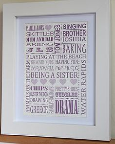Personalised 'Loves' Print - pictures, prints & paintings