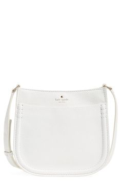Crushing on this Kate Spade crossbody bag that's crafted from rich pebbled leather and gleaming hardware.