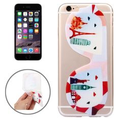 [USD0.72] [EUR0.66] [GBP0.52] Ultrathin Fashionable Glasses Pattern TPU Protective Case for iPhone 6