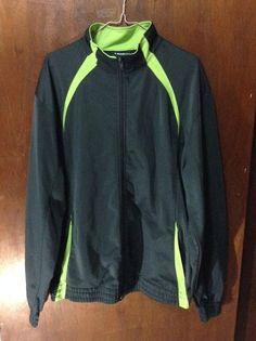 NordicTrack Athletic Women's Size Large Sports Jacket Black Green Zipper Running #NordicTrack #CoatsJackets