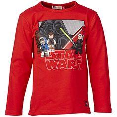 LEGO Wear Star Wars - Camiseta de manga larga para niño, color rot (red 349), talla 11 años (146 cm) #regalo #arte #geek #camiseta