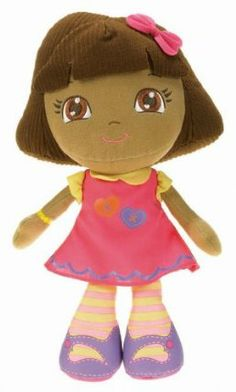 """Fisher-Price Dora The Explorer: Loves You Doll by Fisher-Price. $18.00. Bring her wherever you go. Stylish doll that makes a great companion. Girls can create new adventures with dora everyday. Girls can cuddle with dora. Dora loves you doll is a 12"""" plush. From the Manufacturer                This cute and cuddly Dora Rag Doll is a stylish plush that makes the perfect companion for any adventure."""