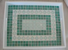 Glass Mosaic Tile Tray