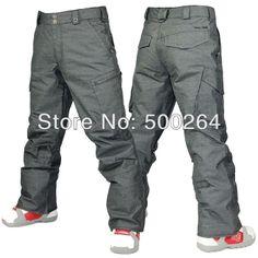 7af66d5bda7 free mens waterproof breathable thermal dark gray snowboarding pants pure  gray skiing pants men outdoor sports trousers bogners