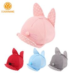 Fair price New Baby Baseball Caps Solid Cat Hats For Girls Boys Sun Hat With Ears Spring Summer Dot Baby Caps Baby Photography Props 2017 just only $3.59 with free shipping worldwide  #babyboysclothing Plese click on picture to see our special price for you