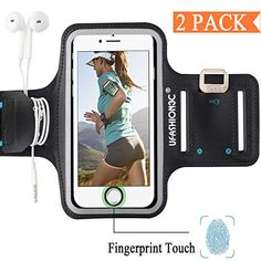 [Fingerprint Touch Compatible] iPhone 8 7 6 inch) Running Armband for Women and Men, Water Resistant Sports Arm band Case for Workout,Gym with Card Pocket,Key Holder Pack, Black) Iphone 8 Plus, Iphone 7, Pocket Key Holder, Amazon Tribe, Iphone Deals, Gift Card Balance, Iphone Hacks, Amazon Deals, Cell Phone Accessories