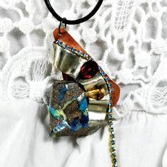 """Collier opale boulder """" coucher de soleil à tintamarre """""""