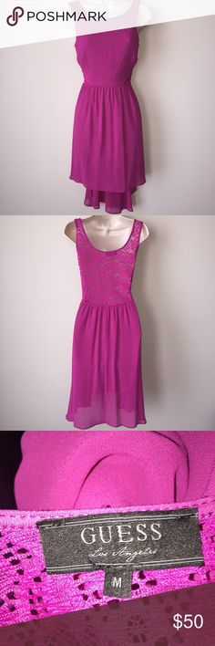 Guess Asymmetrical Purple Dress Dress by Guess. US Size Medium. Material polyester Guess Dresses Asymmetrical
