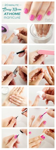 Stacey shares her 12 steps for a busy mom at-home manicure. Her friends at CVS let her try their Beauty 360 products for her perfect at-home manicure. #manicure #busymom