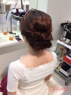 美人花嫁さまの大人可愛い3スタイル♡♡リハ篇   大人可愛いブライダルヘアメイク 『tiamo』 の結婚カタログ
