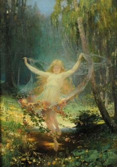 "zakliatie: "" "" Cesar Philipp (b.1859) – Allegoria della primavera "" """