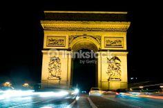 Stock Photo : Arc de Triumph, arch, Paris, France