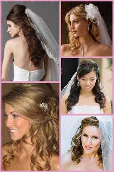 Half Up Half Down Hairstyles « David Tutera Wedding Blog • It's a Bride's Life • Real Brides Blogging til I do!
