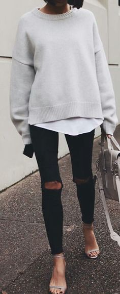 #fall #outfits / cream knit