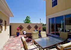 Take a break from city living with this large backyard patio that's perfect for some rest and relaxtion. | Pulte Homes
