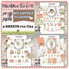 Planner Stickers, Planner Girl, Kawaii Stickers, Planner Icons, Planning Stickers, Planner Accessories, Plan, Erin Condren, Cute Stickers
