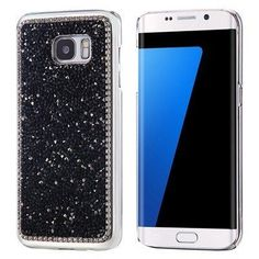 Ultra Slim Hard Back Case with Diamond Glitter for Samsung Galaxy S7 Edge