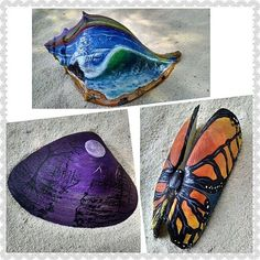 These painted seashells are up for grabs! The ocean conch is already up in my etsy and the other two will be going in tomorrow. Check it out or pm me!  #paintedseashells #artwork #originalart #acrylic #painting #art #artist #artoftheday #conchshell #clamshell #etsyartist #artforsale #etsy#upcycle #recycledart #creative #unique #artsy#artoftheday #art_share