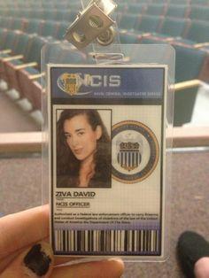 Ziva's NCIS id badge